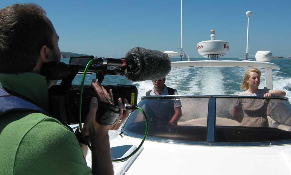 Film Shooting on a Yacht in Mumbai